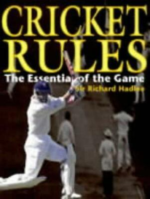 Cricket: The Essentials of the Game, Hadlee, Richard, Good Condition Book, ISBN