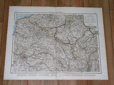 1896 Antique Original Map Of Northern France Luxembourg Lorraine Alsace Picardy