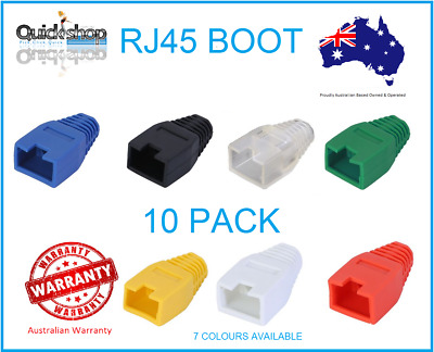RJ45 Strain Relief Boot for Ethernet Cable 6.5mm Ø, CAT5e/6,10 Pack,7 Colours