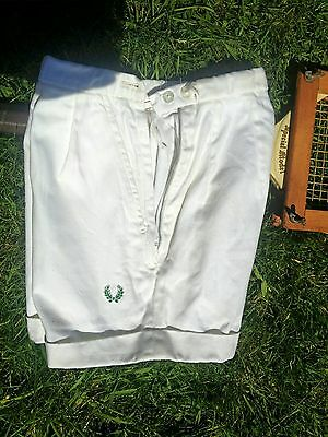 """Vintage 40's 1950s Fred Perry Sanforized Sports Tennis Shorts.Beach Film.S 6"""" XS"""
