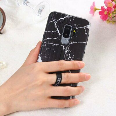 Shockproof Marble Ring Holder Kickstand Hard Case Cover For Samsung Galaxy S9