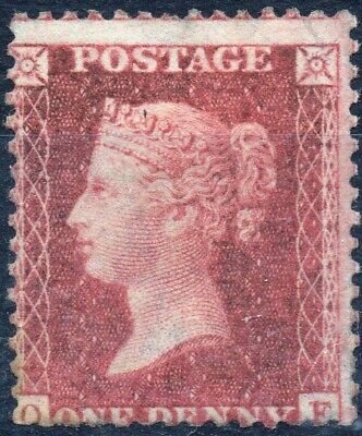 1857 QV 1d Red Star O-F C10 (Unplated) Perf 14 Large Crown Mounted Mint