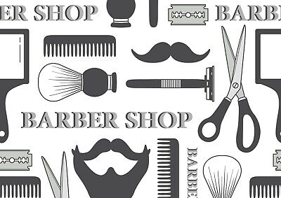 Awesome Barber Shop Poster Print Size A4 / A3 Daddy Father Poster Gift #8506