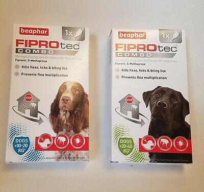 Beaphar FIPROtec COMBO Flea & Tick Spot On For Medium & Large Dogs