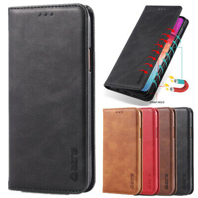 Magnetic Genuine Leather Flip Card Wallet Case Cover For iPhone Xs Max Xr 8 7 6s