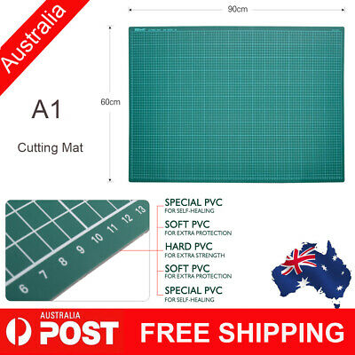 KW-trio A1 NEW PVC Self Healing Cutting Board Mat Craft Quilting Grid Lines P2T4