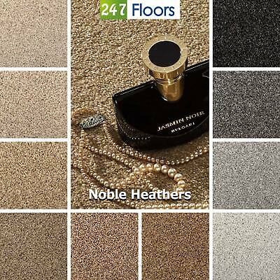 Noble Heathers Saxony Flecked Carpet Actionback Stain Free 9.5mm Pile 5m Wide