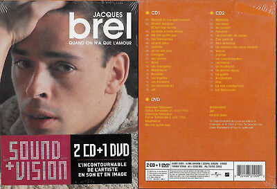 2 CD + 1 DVD - JACQUES BREL : Le meilleur de JACQUES BREL BEST OF / NEUF EMBALLE