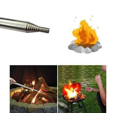 Bellow Collapsible Fire Tools Kit Camping Survival Blow Fire Tube Pocket Outdoor