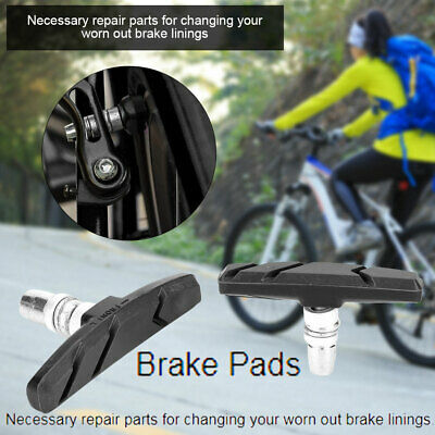 1 Pair V Brake Rubber Blocks Cycle Bike Bicycle MTB Blocks Pads Shoes Mountain