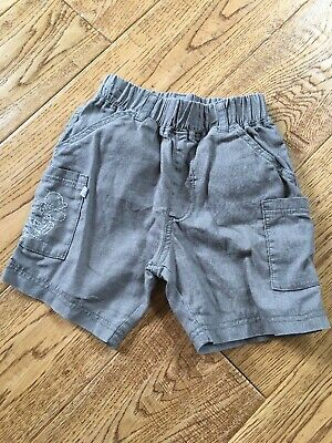 Baby boy shorts size 6-9 months grey linen Mix Humphrey's Corner MOTHERCARE