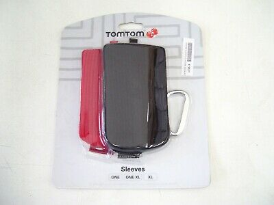 Tomtom One One Xl Genuine Gps Case Cover Black Red Sock Sleeves Belt 2Pk