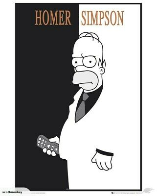 Homer Simpson Scarface - The Simpsons Poster - p2976 m30