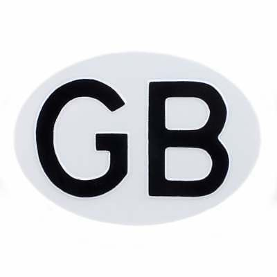 GB (Great Britain) Country ID Plate for Classic Car White & Black