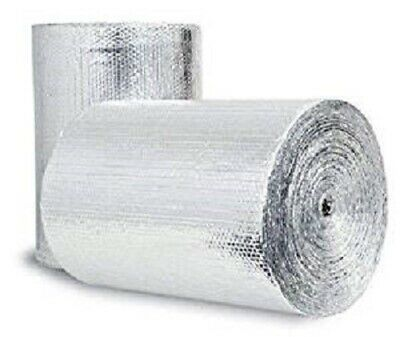 """500SQFT Double Bubble 1/4inch Thick Radiant Barrier Insulation Foil 48"""" x 125ft"""