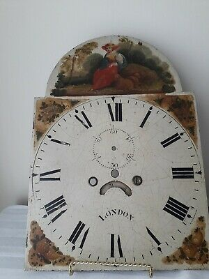 grandfather clock face hand painted, please see pictures for type and condition.