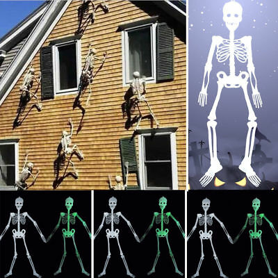 Halloween Props Luminous Human Skeleton Hanging Decoration f. Home Outdoor Party