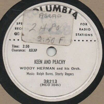 """78er Modern Jazz Woody Herman Orchestra """"Keen And Peachy"""""""