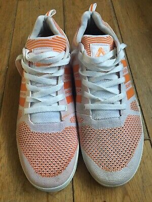 pick up 914e0 7cf7d Adidas x Palace Pro Primeknit white orange shoes UK 9.5 USA 10