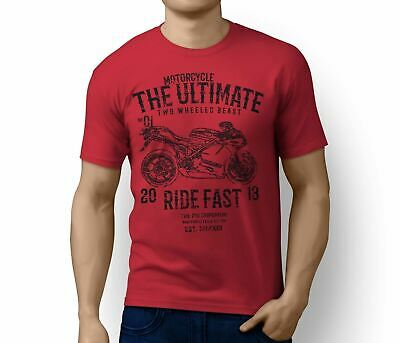 RH Ultimate Ducati 1198R Corse Special Edition Motorbike Art T-shirt