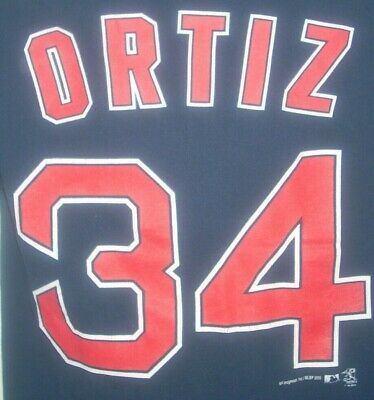 152a3a1e7 DAVID ORTIZ T-SHIRT Boston Red Sox MLB Boys Youth Red Size Small 8 ...