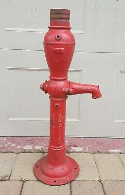 Vintage NOS Red Jacket Cast Iron Antique Hand Water Well Pump ~ Body part only