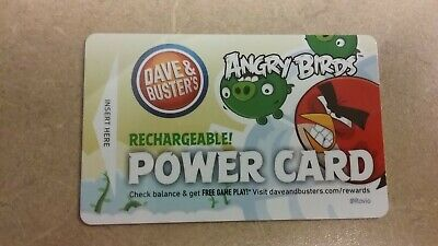 Dave & Buster's Power Card