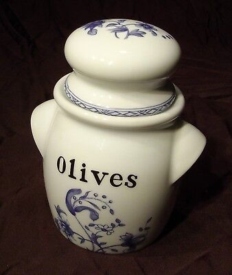Pot  bocal à olives Porcelaine de Paris  décor Vieux Chine