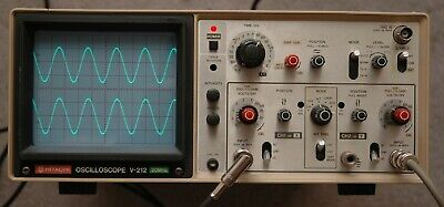 Hitachi V-212 20MHz Two Channel Oscilloscope with 2 Probes, Power Cord