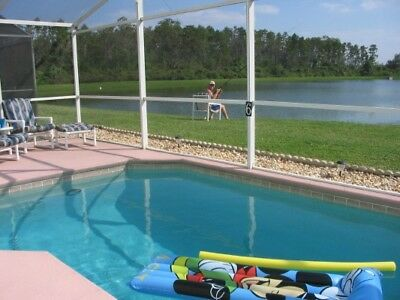 Florida Disney Lakeside Villa To Rent , 4 Bed, 2 Bath, Private Pool, Sleeps 8