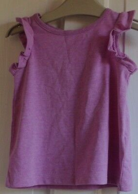 New Next baby girls 100% cotton Top Lilac  6-9 months