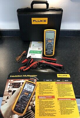 New Fluke 115 600v AC/DC True RMS Continuity Digital Multimeter With Test Leads