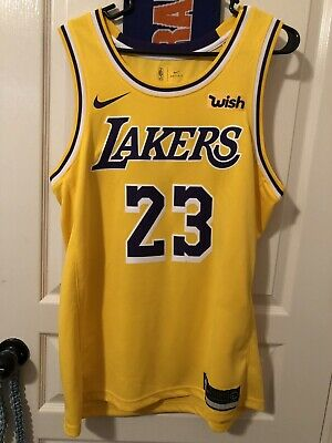 buy popular d72e0 eaed4 LEBRON JAMES LA Lakers Nike Authentic Icon Home Jersey 40 S ...