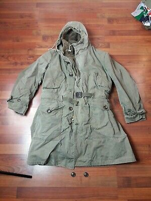 WW2 US army parka coat with USMC type cuffs liner good for early