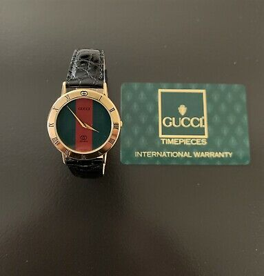 "ffc9da02c76 Gucci 8"" handsome men s gold watch series 3001m new crystal   box  349.99"