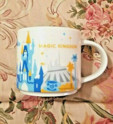 Disney Parks Starbucks You Are Here Collectible Magic Kingdom Mug Cup New