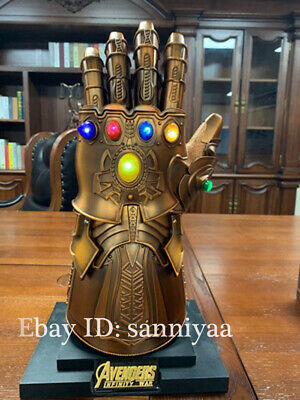 HCMY 1:1 Thanos Infinity Gauntlet Full Metal Wearable Statue LED Instock Cosplay