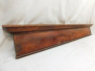 1900's Antique Wooden DOOR PEDIMENT Lintel Header Mission Style Maple ORNATE