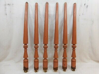 Six 1800s Antique Walnut BALUSTERS Stair Railing VICTORIAN Style Spindle ORNATE