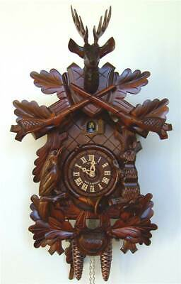 1-Day Black Forest House Clock in Antique Finish [ID 93489]