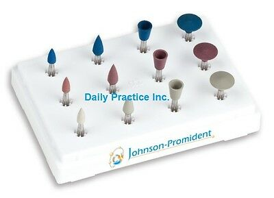 Johnson-Promident Diamond Porcelain Polishing Kit RA All Shapes #CERA506-KIT