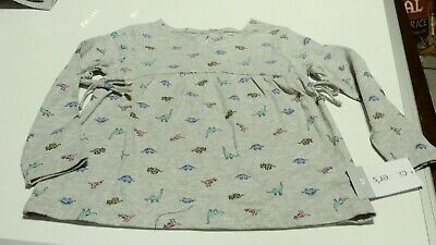 Carters Gray Dinosaur Multicolored Long Sleeve T Shirt Size 2t