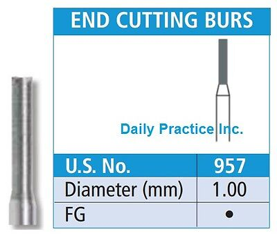Johnson-Promident Dental Carbide Burs FG-957 END CUTTING Select Quantity