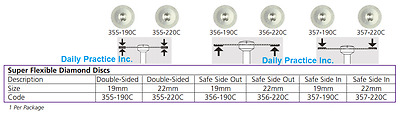 Johnson-Promident Super Flexible Diamond Disc 19mm 22mm Double Sided In Out Each