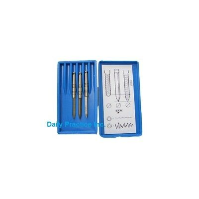 Johnson-Promident Dental Posts Reamers Dentatus Type Assorted Select Size Box/6