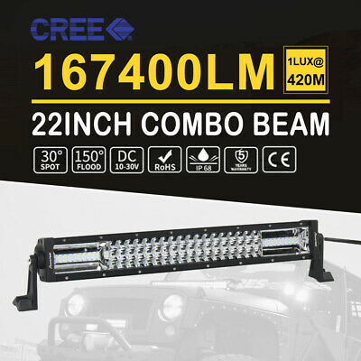 22Inch 416W LED Light Bar Combo Single Row Truck Offroad Driving Lamp 23'' 20''