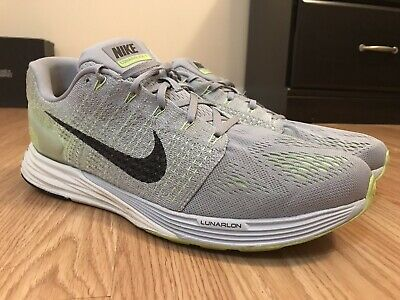 e4ca3c31ed18 Nike Lunarglide 7 Men s Shoes Size 13 Gray Green Running Athletic 747355-003