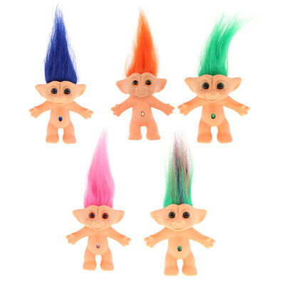 10cm Nude Lucky Troll Doll Mini Action Figures Kids Toy Adults Collectibles