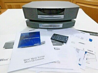 Bose Wave Music System Iii W/ Cd Changer Remote Titanium Touch Top All Paperwork