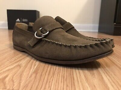6051d0b1d Gucci Men's Horsebit Loafers Size 8.5 D Brown Moc Slip On Shoes Made in  Italy
